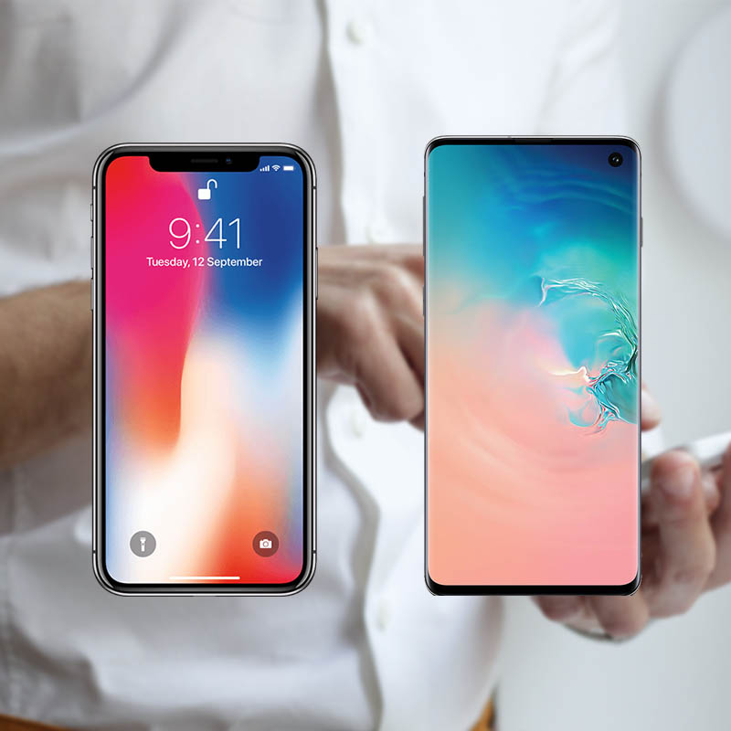 SAMGUNG SX vs IPHONE XS