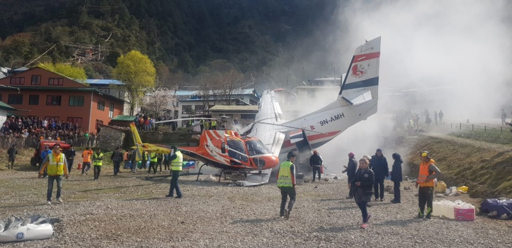 Lukla plane crash.